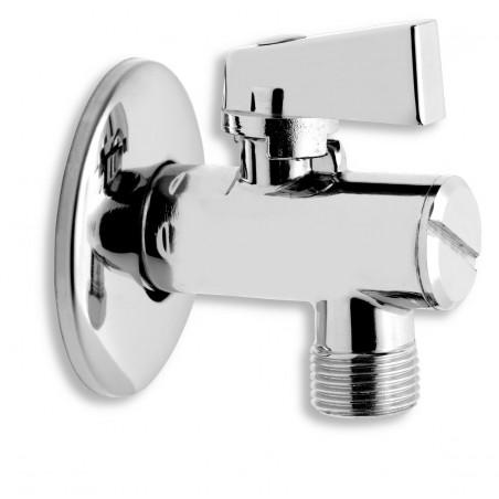 Rohový ventil s filtrem, krytkou a kovovou pákou 1/2 x 3/8