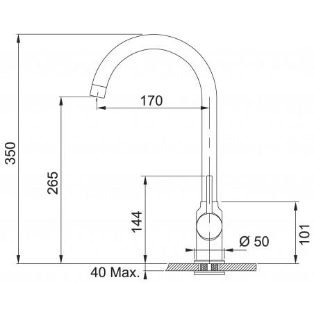Set Franke G173 (dřez BFG 611-78 Grafit + baterie FP 9000.099 Grafit)