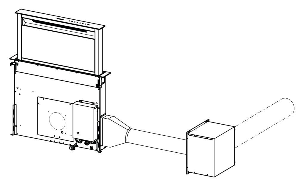 Sada pro umístění motoru mimo odsavač, pro odsavače Franke FDW 908 IB