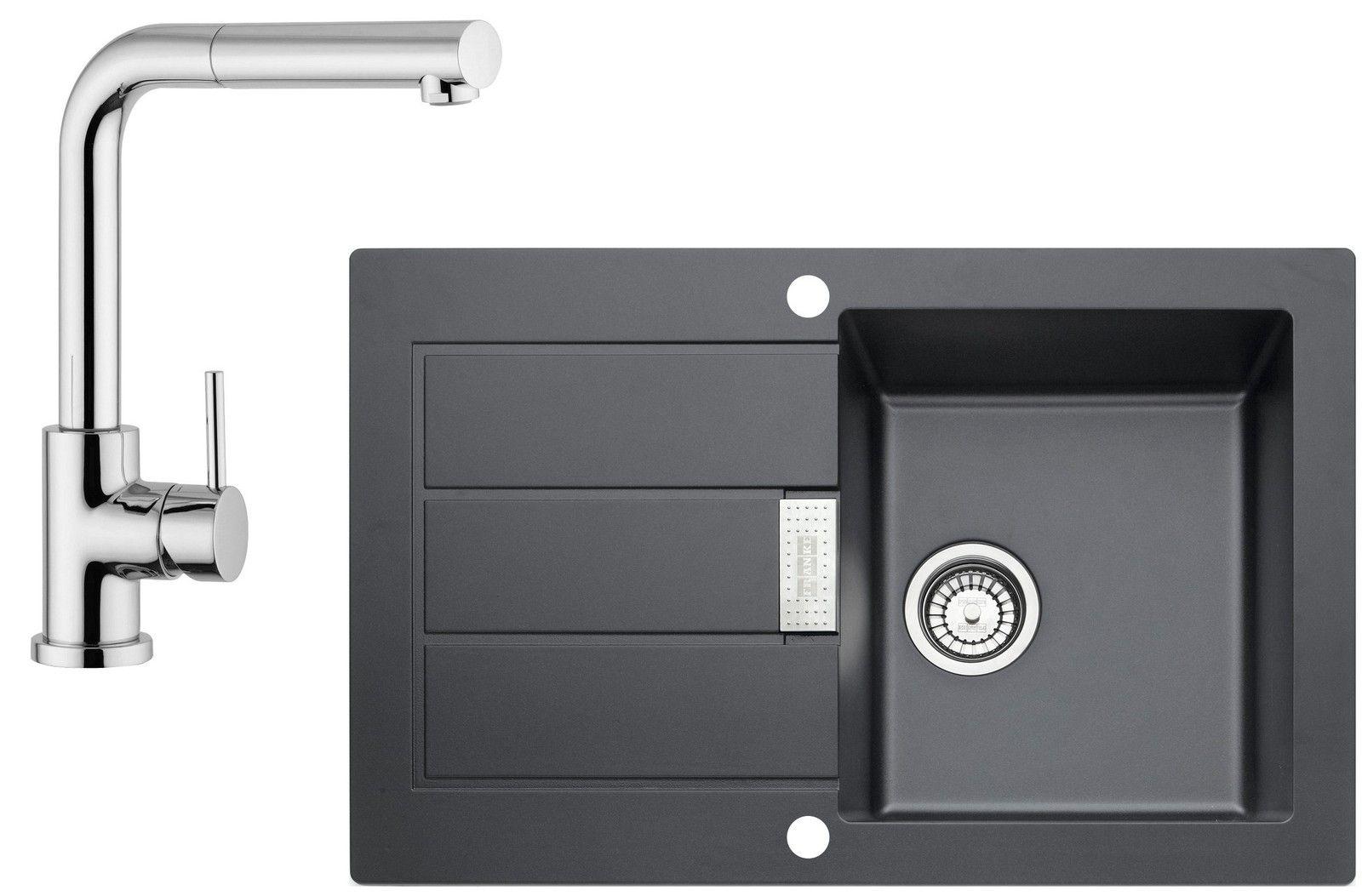 Set Franke T2 (dřez SID 611-78 + baterie FN 0147.031) Černá