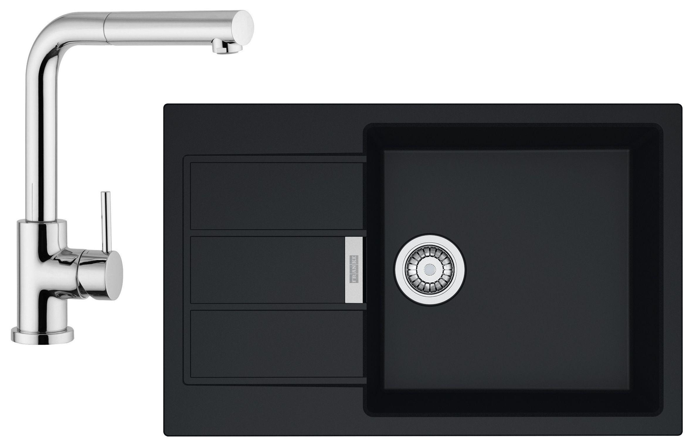 Set Franke T55 (dřez SID 611-78/45 BB + baterie FN 0147.031) Černá