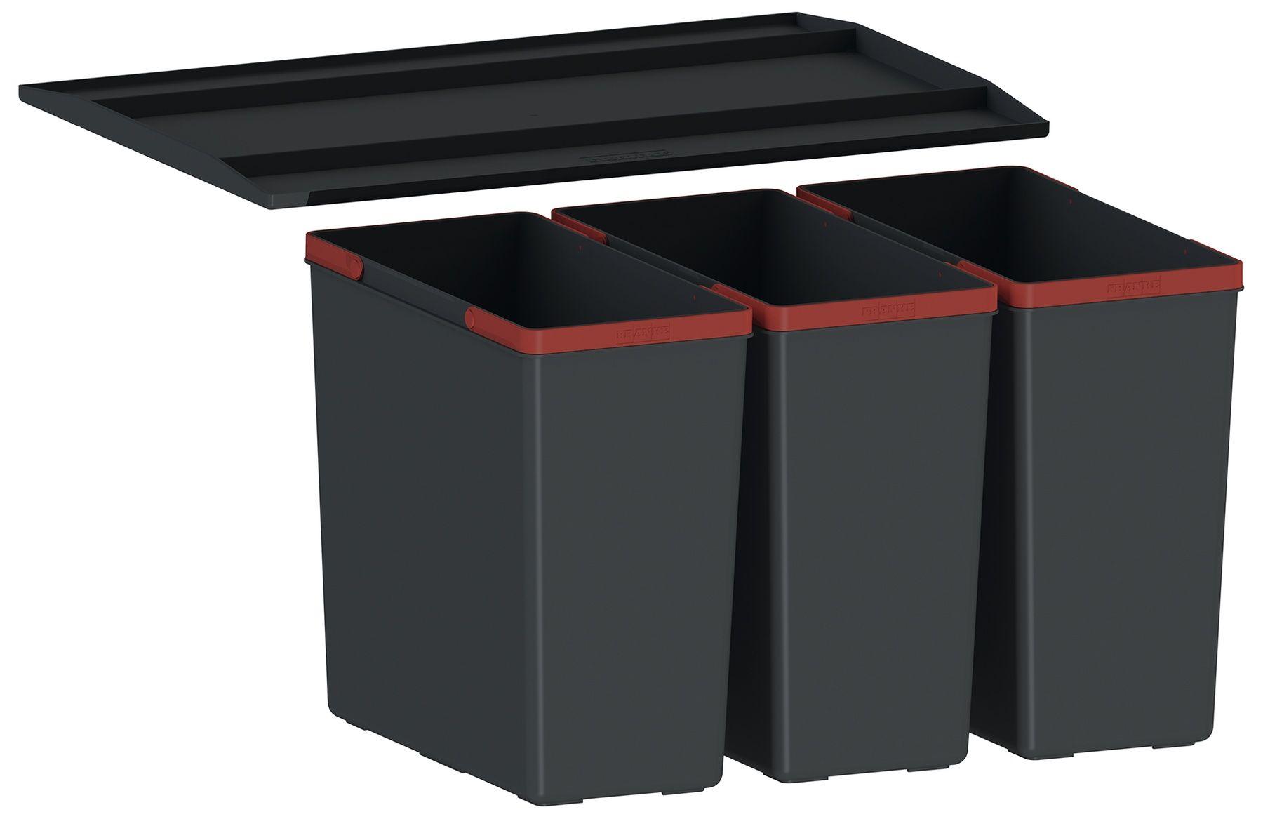 Odpadkový koš Franke Sorter EasySort 600-3-0, 3x 14,5 l